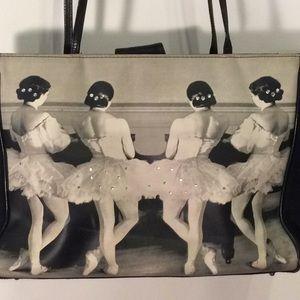 Ballerina w/ Rhinestone Black Grey Medium Time Bag